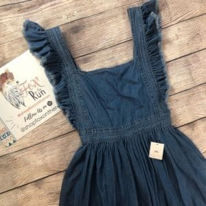 Adorable Chambray Apron Dress